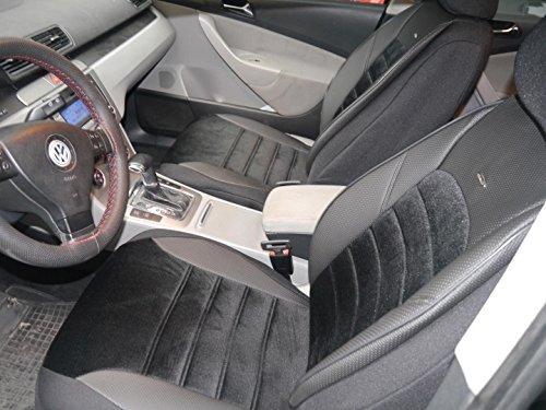 Sitzbezüge K-Maniac für Opel Corsa D | Universal Schwarz | Autositzbezüge Set Komplett | Autozubehör Innenraum | No. 2 | Kfz Tuning | Sitzbezug | Sitzschoner