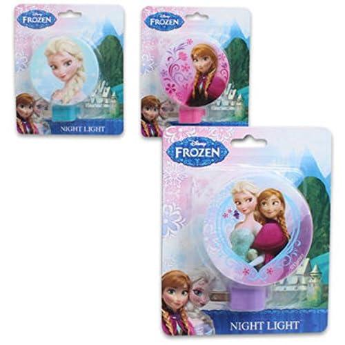 45670 Disney Frozen Anna and Elsa Plug-in LED Night Light Dusk-to-Dawn Sensor Nursery UL-Listed Ideal for Bedroom Girl/'s Room D/écor Bathroom