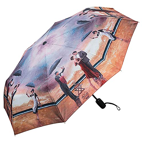VON LILIENFELD Regenschirm Taschenschirm Windfest Theo Michael: Hommage to The Singing Butler Auf-Zu-Automatik Leicht Stabil Kunst