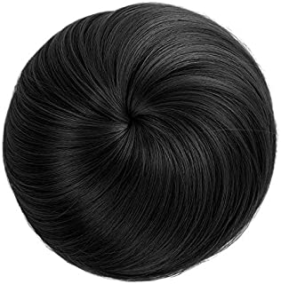 Generic Women's and Girl's Synthetic Hair Bun Extension (Black)