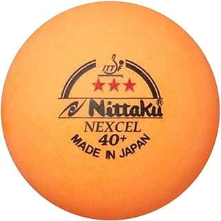 NITTAKU 12 Balls NEXCEL (Made in Japan) , 40+ Orange 3 Stars Table Tennis Ball