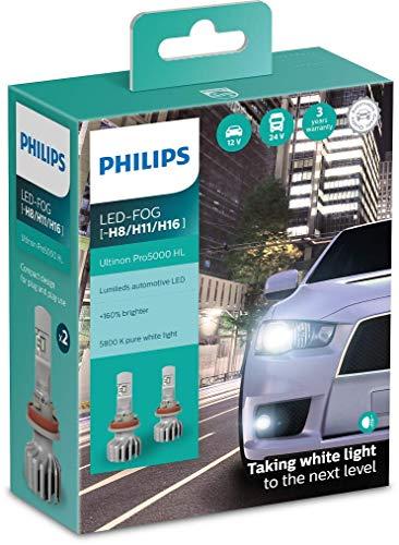 Philips Ultinon Pro5000 LED lampadina fari auto (H8/H11/H16), confezione doppia