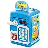 LILI Salvadanaio Automatico Mini Salvadanaio per Bambini ATM Salvadanaio per Denaro Reale Automatico Rotolamento Carta Moneta Denaro Contante Elettronico,Blue