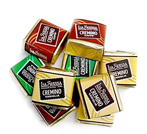 Cremini della tradizione Piemontese La Suissa g 500 - Cioccolatini assortiti nei gusti: Vaniglia, Caffé, Nocciola - Senza Glutine