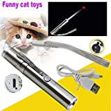 Wantis Crazy Chase ! 3 in 1 USB Charging Laser Cat Toys,Pet Interactive LED Light Command Light Training Multifunction Tools