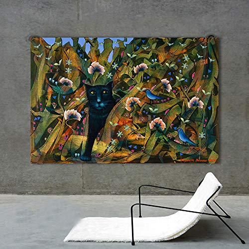 YB muurkunst foto's voor de woonkamer wooncultuur kat kinderkamer linnen dier verf 60cm x90cm No Frame