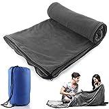 Saco de dormir Liner Forro Polar de microfibra manta de viaje Camping hoja saco