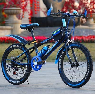 20 inch Variable Speed Shock Absorber Mountain Bike Adult Children Student Mountain Bike,Blue