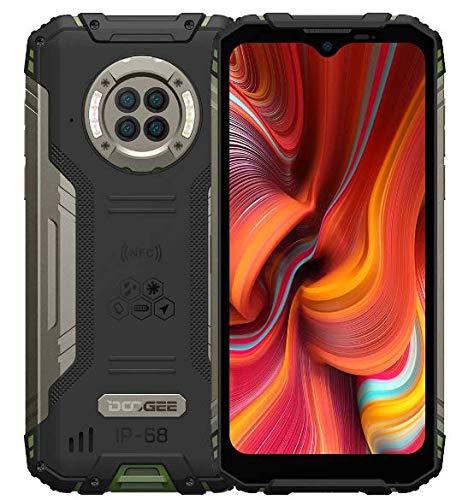 DOOGEE S96 PRO IR Nachtsicht Outdoor Smartphone ohne Vertrag, Helio G90 Octa Core 8GB RAM 128GB ROM, 48MP Quad-Kamera (20MP Infrarot), 6,22\'\' IP68-Handy 6350mAh Akku(Kabellose Ladung) NFC Grün