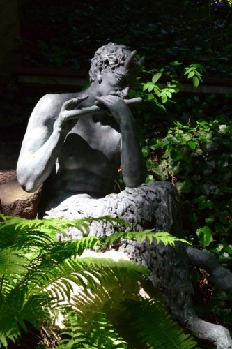 Pan Statue in the Woods Journal: Take Notes, Write Down Memories in this 150 Page Lined Journal