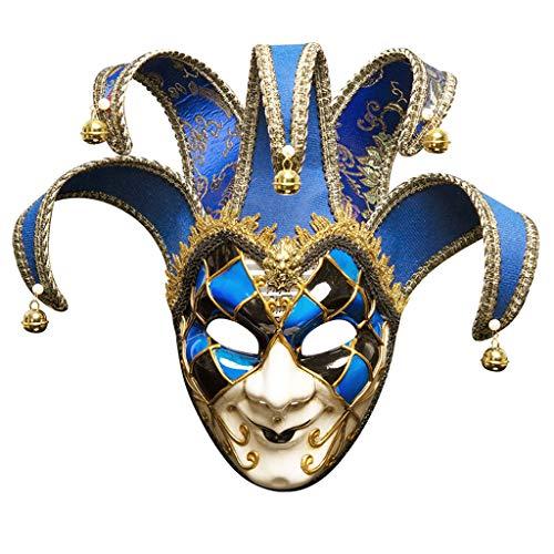LZY máscara- Mascarilla para Hombre Pintada a Mano Performance Mask (Color : Royal Blue, Tamaño : 16x43cm)