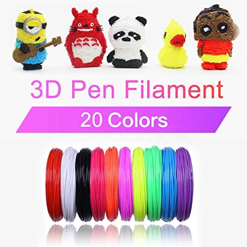 3D Stift Filament PLA, 20 Farben, je 10M – 3D Pen PLA Filament 1,75mm, 3D Stift Farben Set für ODRVM, Tecboss, Lovebay, 3D Stift and 3D Druck Stift - 6