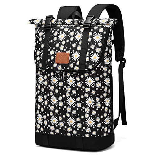 Travel Hiking Backpack, 30L Roll-top Camera Daypack, Fit 15.6 Inch Notebook (Chrysanthemum)