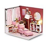 Cuteroom Kit de Maison en Bois de Meubles Miniatures de Salle de poupée Bricolage - Maison de poupées en Bois avec Meubles et Accessoires, pour Une idée adaptée à la Famille