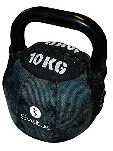 Sveltus Soft Kettlebell 10 Kg schwarz Krafttraining Muskeltraining Gewichte