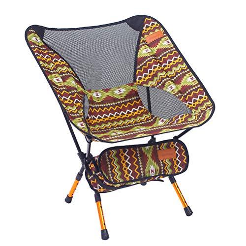 LIOOBO Tragbare Klapp Angeln Stuhl Camping Stuhl Sitz 600D Oxford Tuch Aluminium Angeln Stuhl für Picknick Im Freien BBQ Strand Stuhl (Kaffee Grün)