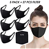 Undwider Reusable/Washable Protective Face Masks + 27 Pieces Filters