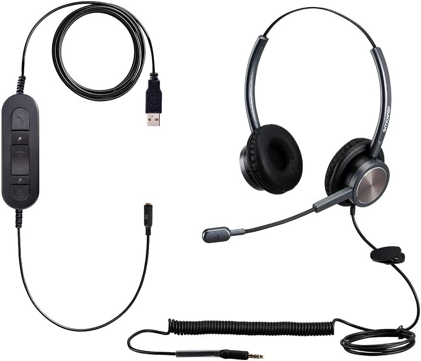 Manufacturer OFFicial All items in the store shop 3.5mm to USB Call Center Microphon Cancelling Headset Noise with