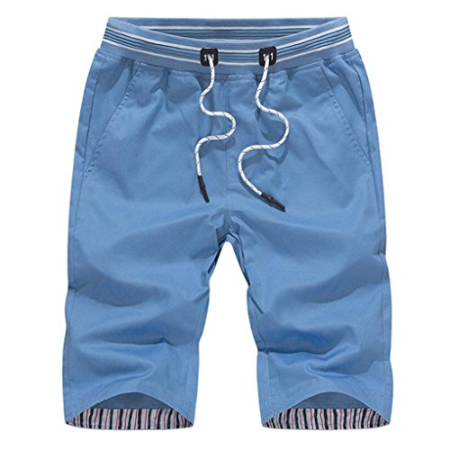 Men Short Pants, Neartime 2021 Fashion Plus Size Swim Trunks Cotton Sport Beach Surfing Swimming Pants (XL, Blue)