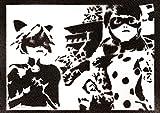 Poster Ladybug y Cat Noir Grafiti Hecho a Mano - Handmade Street Art - Artwork...