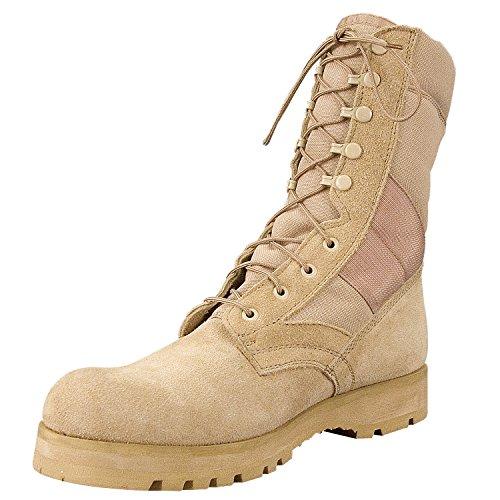 "Rothco 8"" Desert Tan Sierra Sole Boot, 11W"