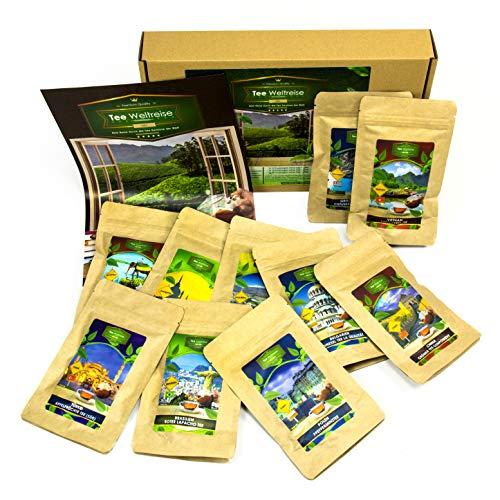 Theegeschenkset voor theedrinkers (10x7 kopjes) | Thee cadeau mand cadeau-idee voor vrouwen mannen vriendje vriendin hem hem Verjaardagscadeau set