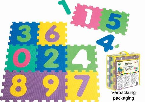 Playshoes 308744 EVA-Puzzlematten, Spielteppich 10-teilig, Dicke 1 cm, etwa 0,9 m² Fläche