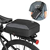 Decdeal 2-in-1 Bicycle Trunk Bag Casual Chest Sling Pack Bag Cycling Bike Rear