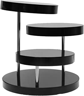 D DOLITY 3-Tier Black Necklace Bracelet Round Table Holder Stand Jewelry Display Rack