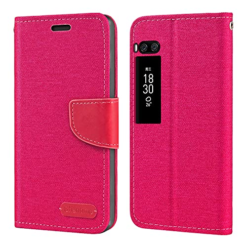 Meizu Pro 7 Plus Hülle, Oxford Leder Wallet Hülle mit Soft TPU Back Cover Magnet Flip Hülle für Meizu Pro 7 Plus