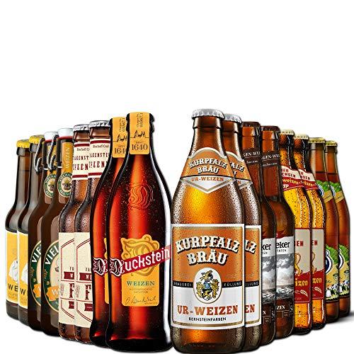 Weizen Bierpaket von Bierselect - 16 beste Flaschen Weißbier in einem Paket - Ideales Geschenk Bier Paket