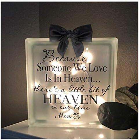 Yuanhong Luminous Memorial Blocks Gift for Dad Mon Grandpa Grandma Husband Wife Son Daughter product image