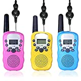 3 Pack Walkie Talkies for Kids, 8 Channels 446MHz 2 Way Radio Toys