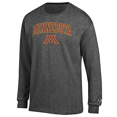Elite Fan Shop Minnesota Golden Gophers Long Sleeve Tshirt Varsity Charcoal - Large