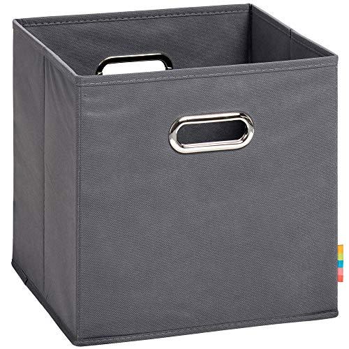 (H&S) Aufbewahrungsbox MIA - Faltbox - Korb - 28x28x28 cm - (Anthrazit)