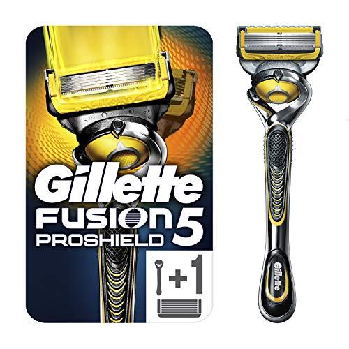 Gillette Fusion 5 ProShield Rasierer Herren mit Trimmerklinge für Präzision und Gleitbeschichtung, Rasierer + 1 Rasierklinge