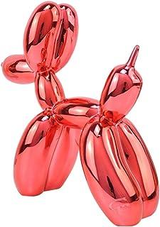per San Valentino Statua a forma di cane con palloncino in resina americana TCYLZ M4092 colore oro decorazione per la casa