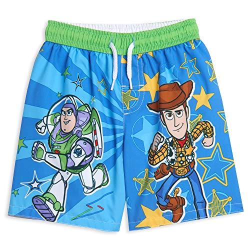 Disney Pixar Toy Story Buzz Lightyear Woody Toddler Boys Swim Trunks Blue 2T