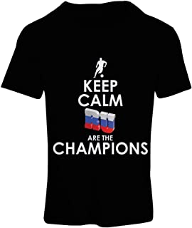 lepni.me N4510F Camiseta Mujer Keep Calm, Russian Are The Champions