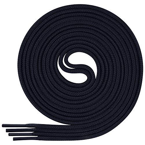 Lenzen 3 Paia Lacci per Scarpe Eleganti I Stringhe Rotonde e Sottili (120 cm, blu scuro)