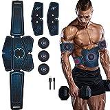 WAMK Entrenador de estimulador Muscular Abdominal EMS Abs Equipo de Fitness Entrenamiento músculos electroestimulador tóner Ejercicio en el Gimnasio del hogar