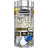 Muscle Builder Mass Gainer Pre Workout | MuscleTech Muscle Builder | Nitric Oxide Booster | Workout Supplement for Men and Women | 400mg of Peak ATP for Enhanced Strength | 30 Capsules (30 Servings)