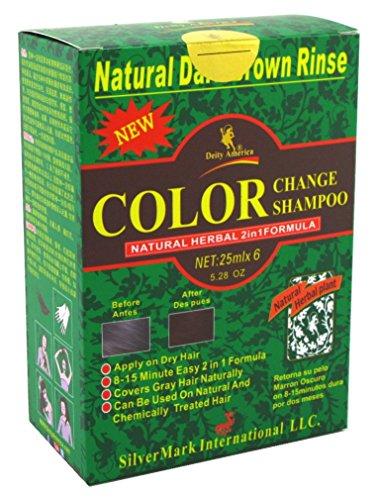Deity Shampoo Color Change Kit Natural Herbal 2N1 Dark Brown