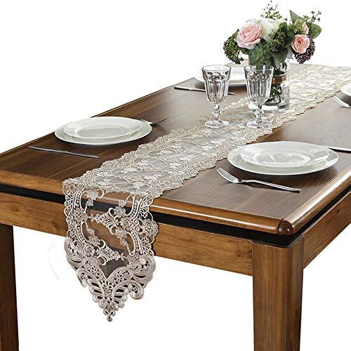 NUANXIN Tafelloper, kant dressoir sjaal grote salontafel loper, tafel loper, of keuken tafel loper