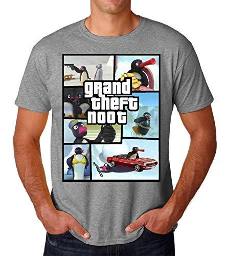 Grand Theft Noot Noot Pingu Men's T-Shirt Herren Tshirt Small
