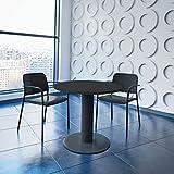 Optima runder Besprechungstisch Ø 80 cm Anthrazit Anthrazites Gestell Tisch Esstisch