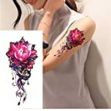 yyyDL Etiqueta engomada del tatuajeancla andtemporary tatuajes resistente al agua body art color falso tatuaje brújula en el brazo del hombro 14 * 21 cm 4 unids