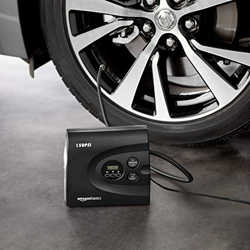 AmazonBasics Compact Portable Digital Tyre Inflator with Carrying Case