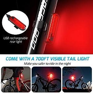GX·Diffuser Luz Bicicleta Recargable USB,Luz Bicicleta Delantera y Luz Trasera Bicicleta,Impermeable LED Luz Bicicleta Set 800 Lúmenes,Luz Bicicleta para Carretera y Montaña-Seguridad para la Noche