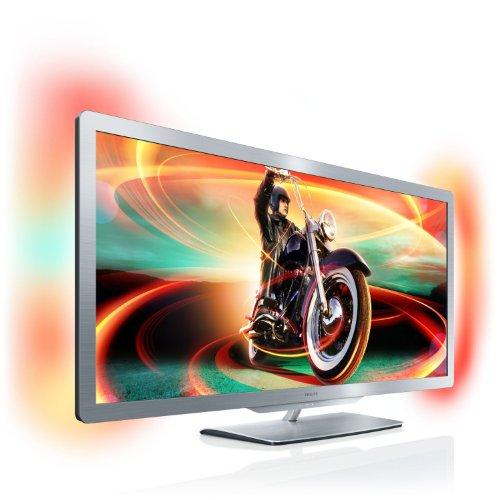Philips 50PFL7956K/02 127 cm (50 Zoll) 21:9 Ambilight 3D LED-Backlight-Fernseher (Full-HD, 400 Hz PMR, DVB-T/C/S, Smart TV) silbergrau